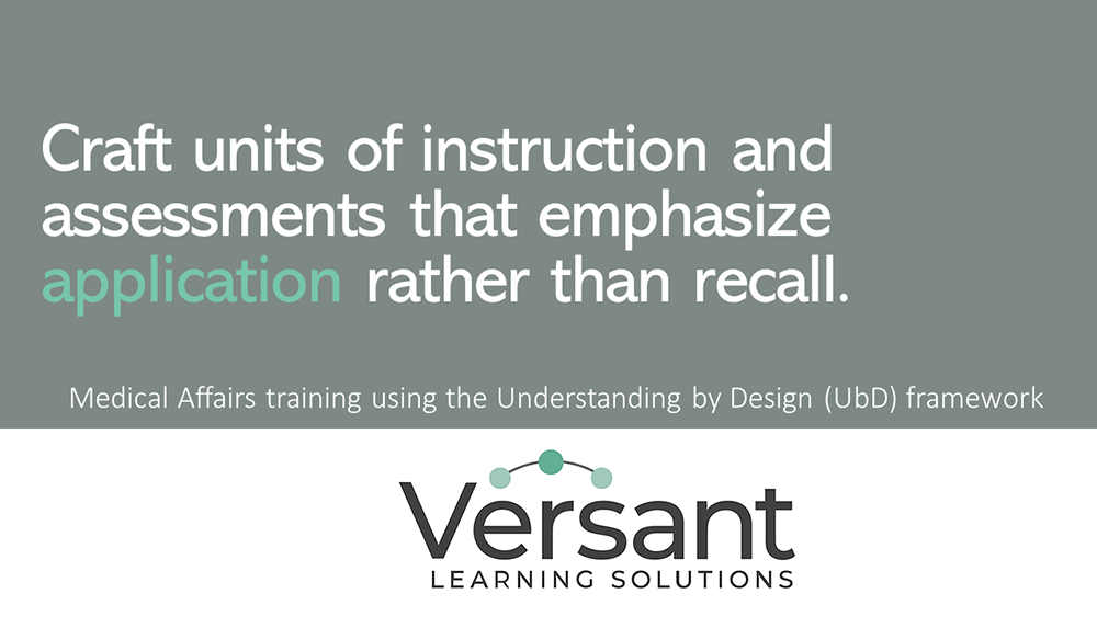 Craft units of instruction and assessments that emphasize application rather than recall