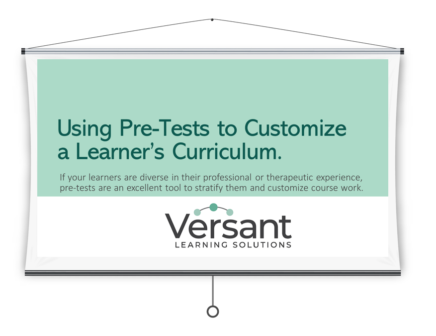 Using Pre-Tests to Customize a Learner's Curriculum