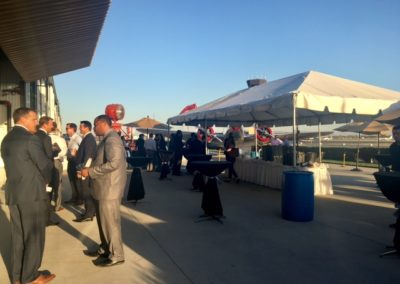 outdoor area on plan tarmac for corporate event