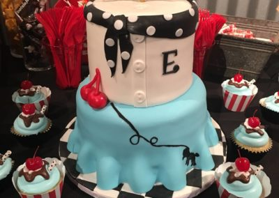 Sweet 16 Birthday Party Cake Layout