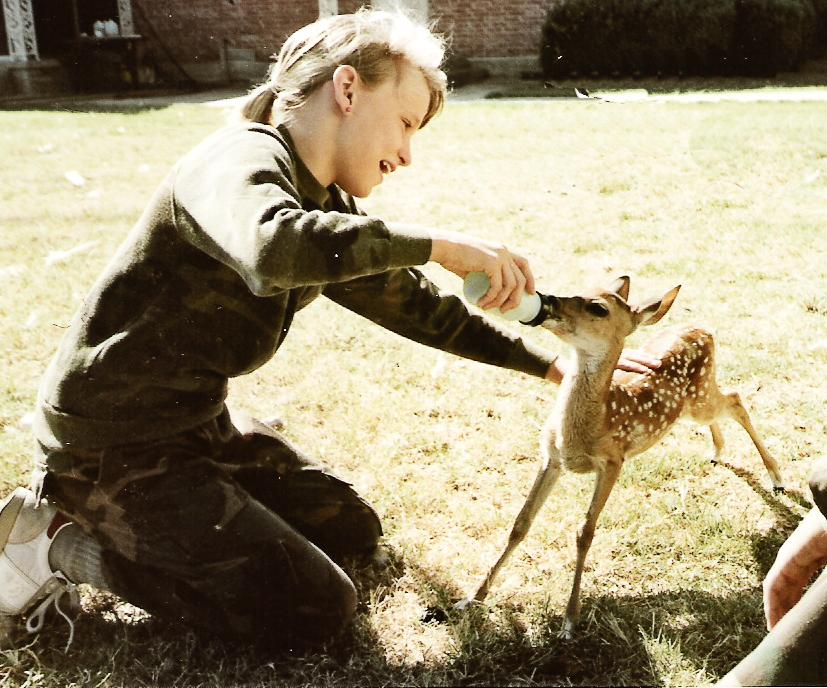 Autumn Manka as a child