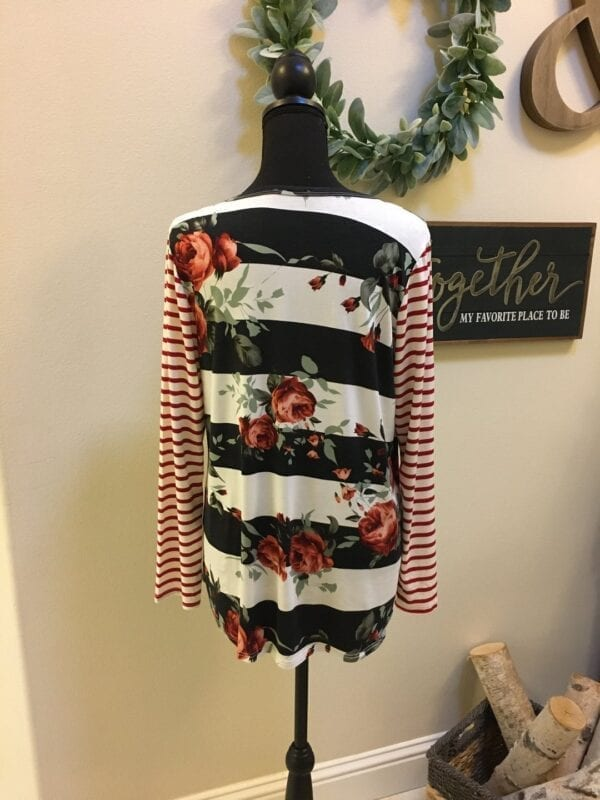 Holly Striped Floral Top..