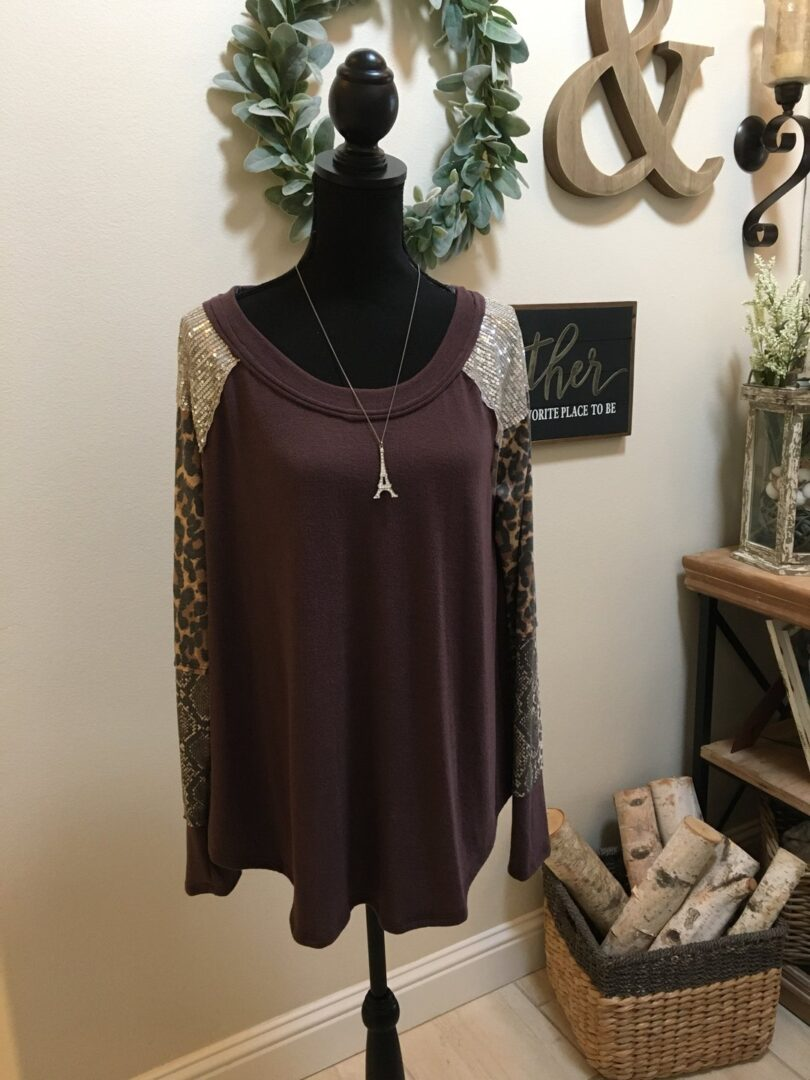Snake and Sequins Top