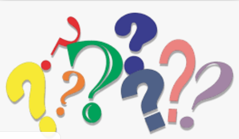 Graphic of question marks