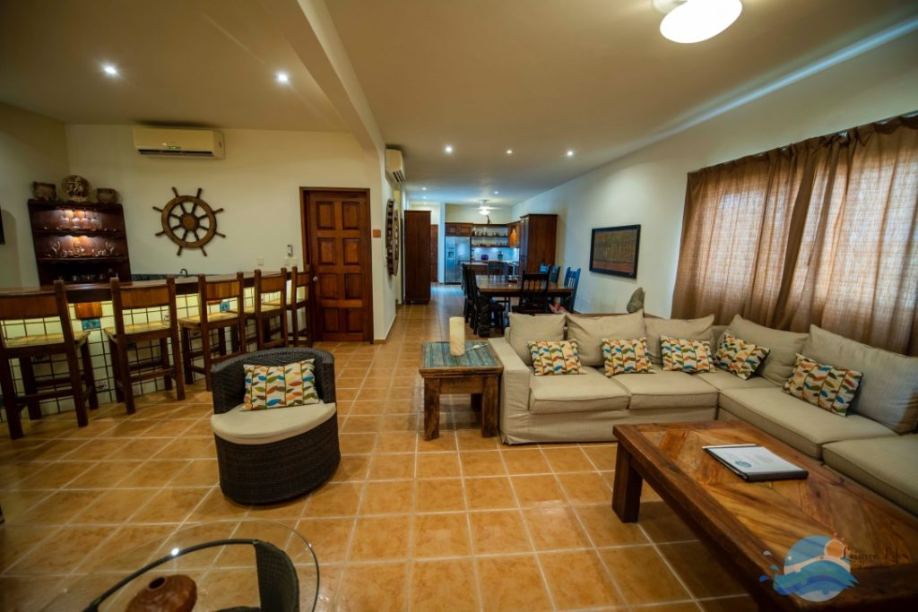 Hotel Room or Vacation Rental?   Here is the Living area of Villa Playa