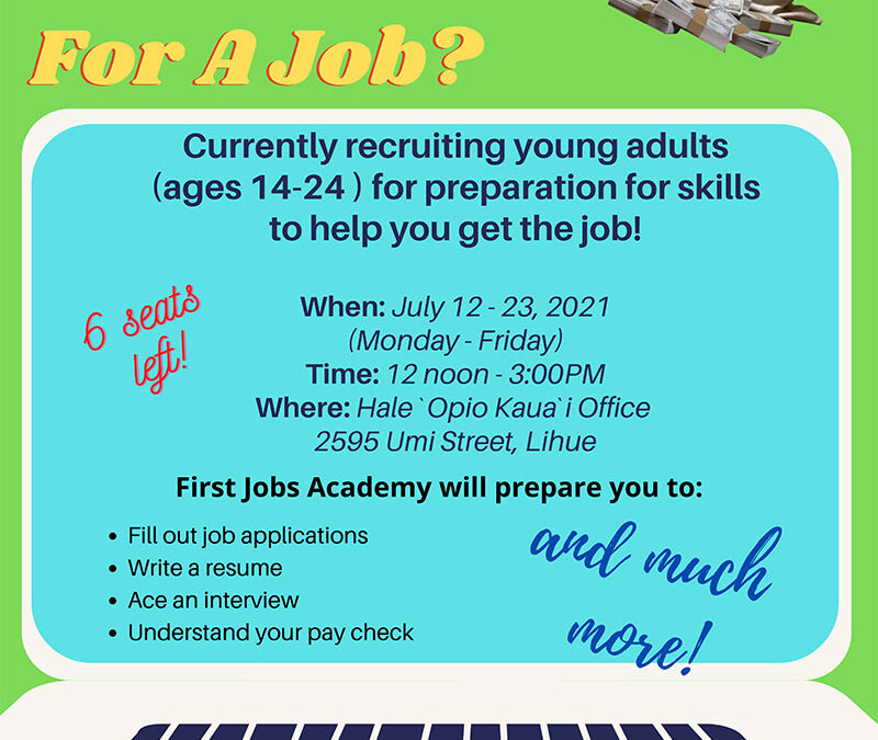 First Jobs Academy 2021
