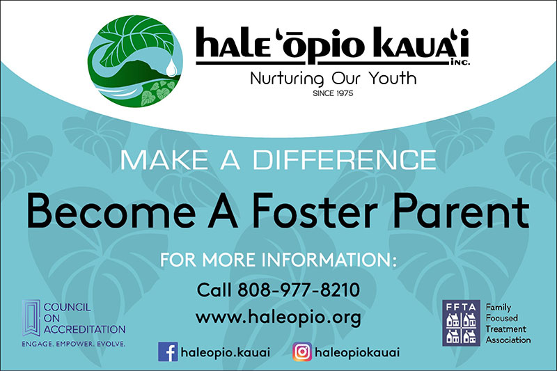 Hale Opio Foster Parent Banner
