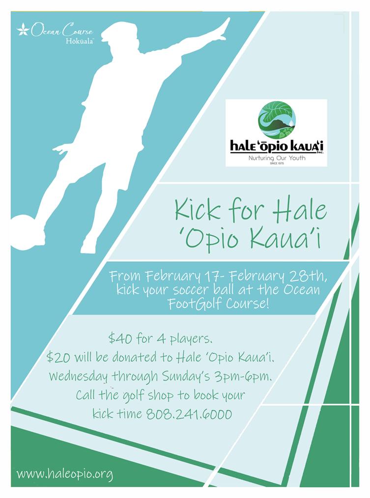 Kick for Hale Opio Kauai 2021 Flyer