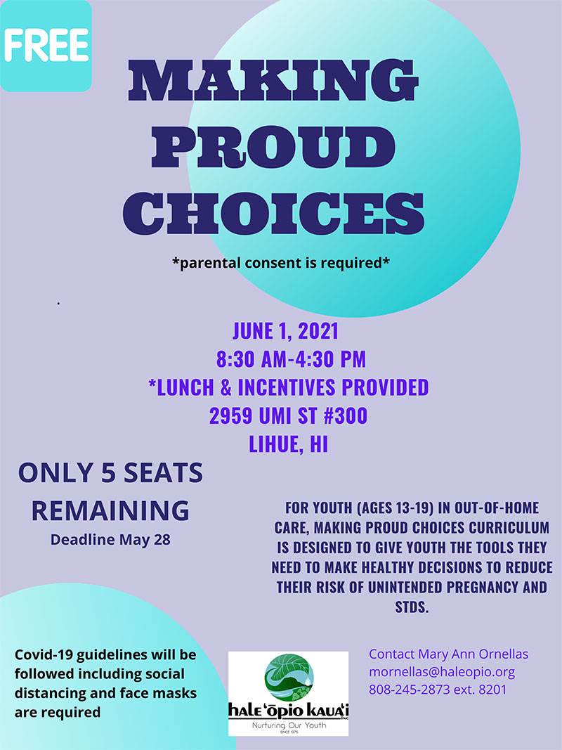 MAKING PROUD CHOICES flyer