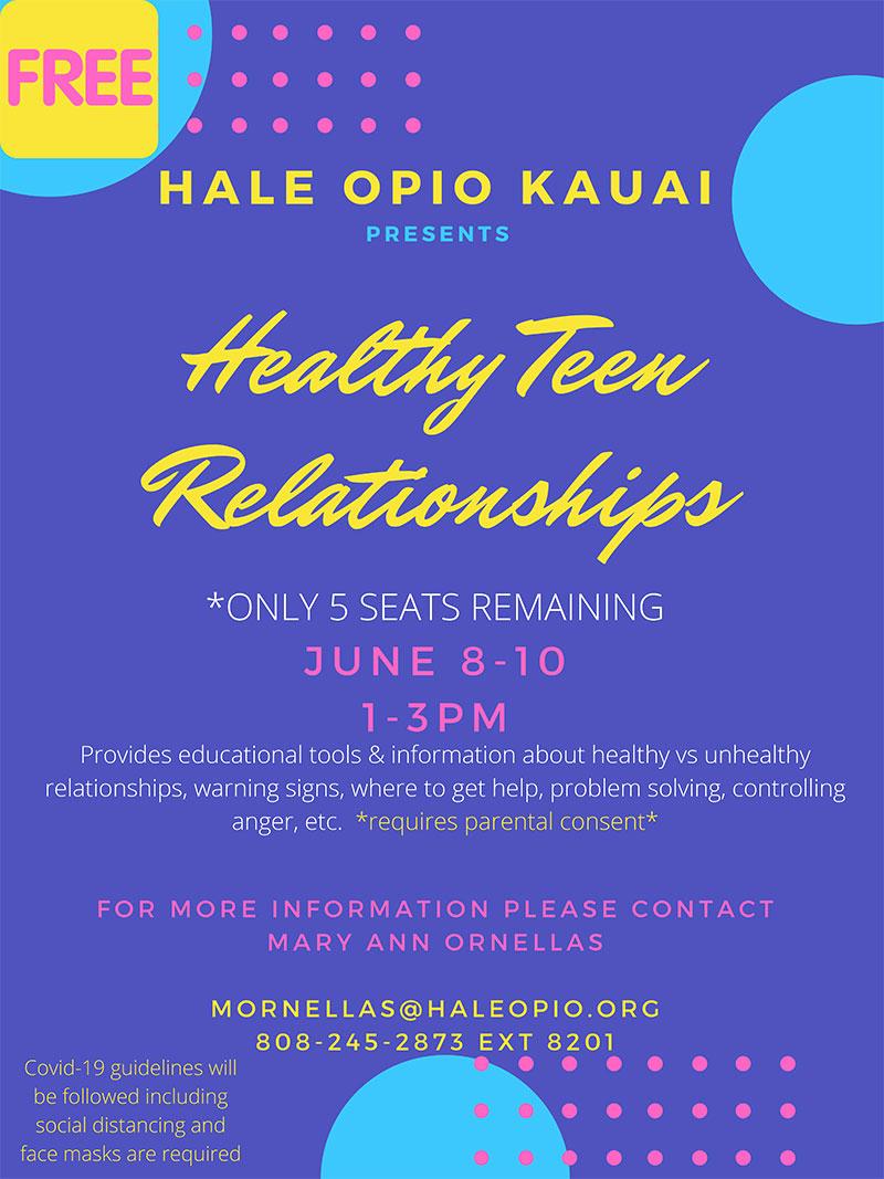 Healthy Teen Relationships Flyer