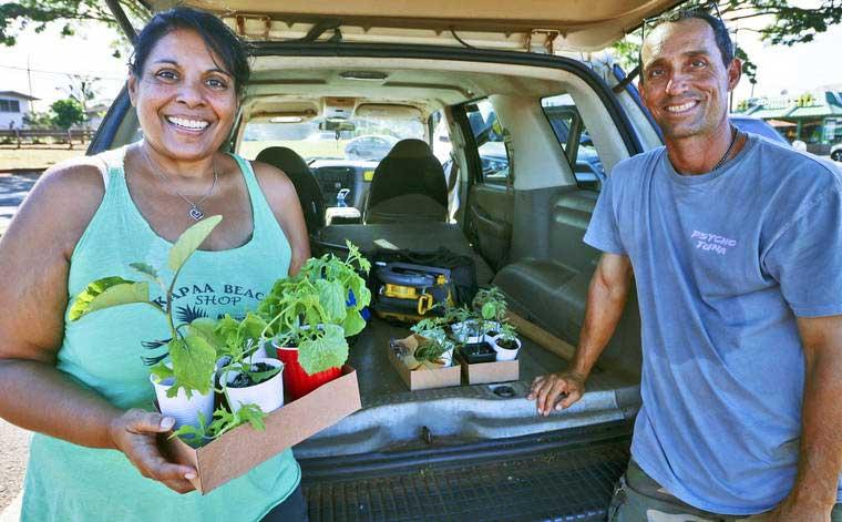 Hale 'Opio goes to 'Ele'ele for children's garden plants