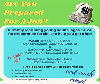 First Jobs Academy Oct/Nov 2021