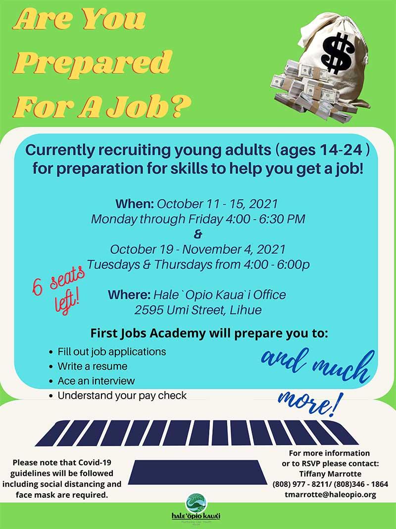 Fist Jobs Academy Oct/Nov 2021