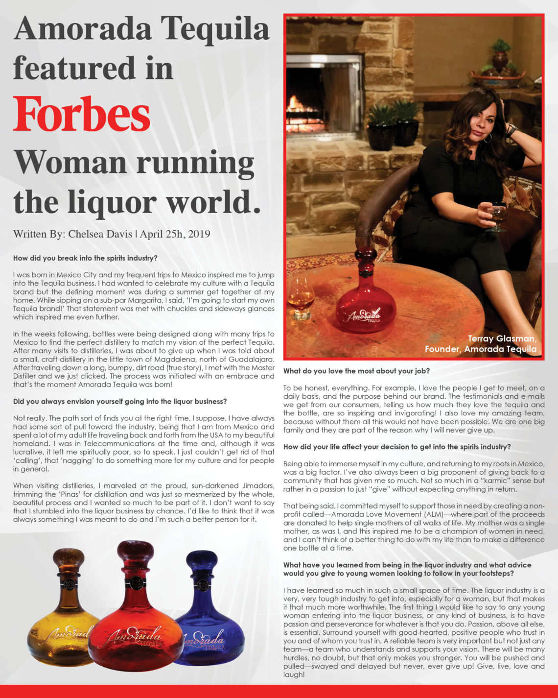 Founder Terray Glasman of Amorada Love Movement mentioned in Forbes