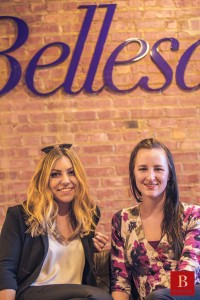Left is Bellesa CEO Michelle Shnaidman and on the right is Jess, an erotic fiction writer