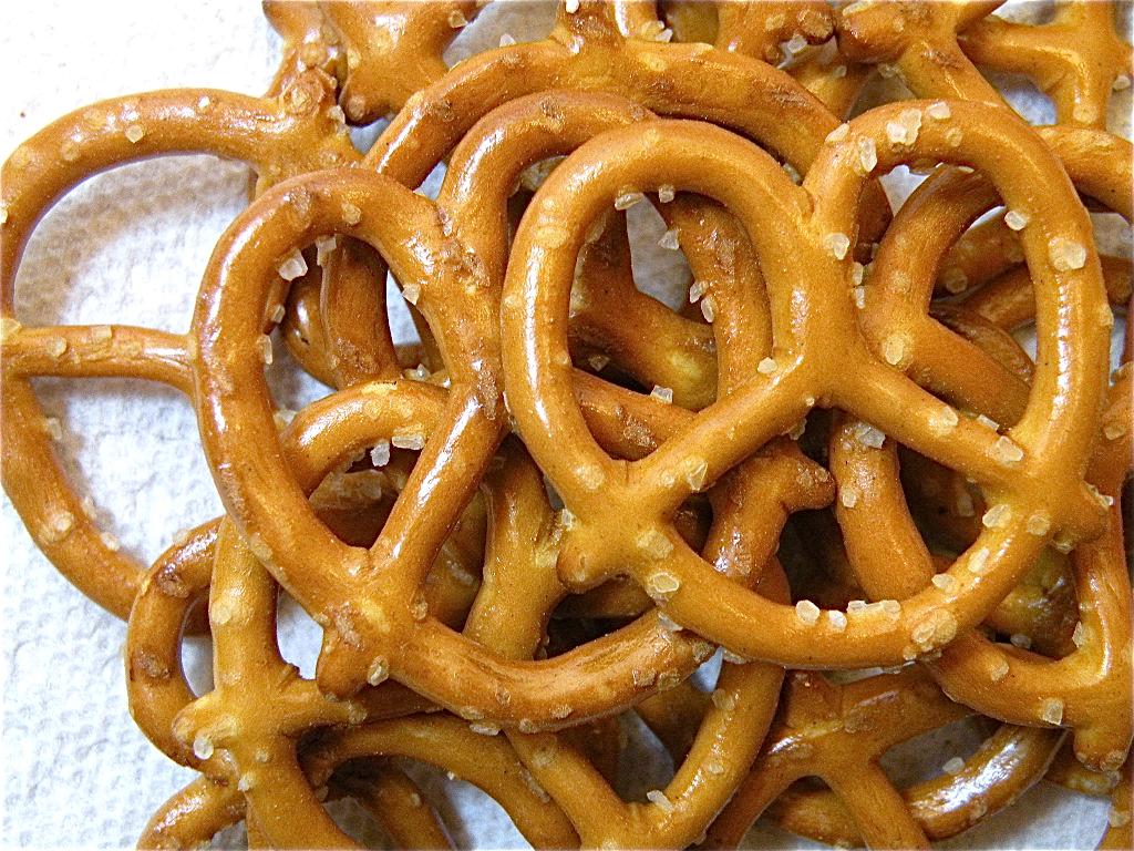 snacks saludables para corredores pretzels