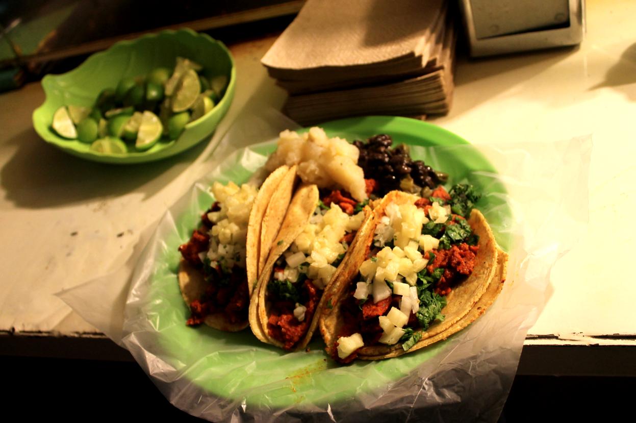 Restaurantes veganos tacos