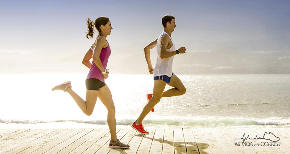 correr contra el estrés playa