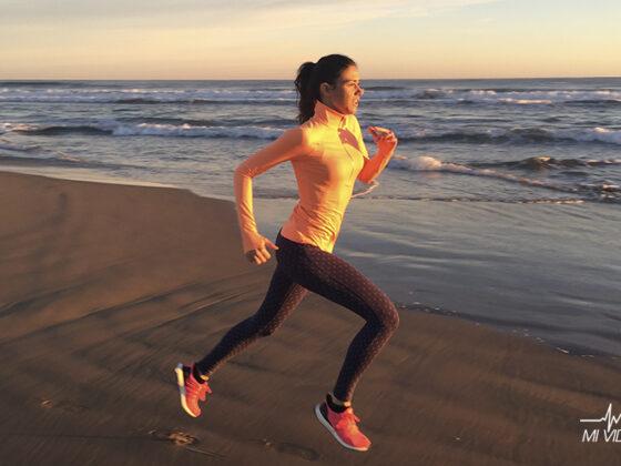 propósitos de año nuevo para corredores playa
