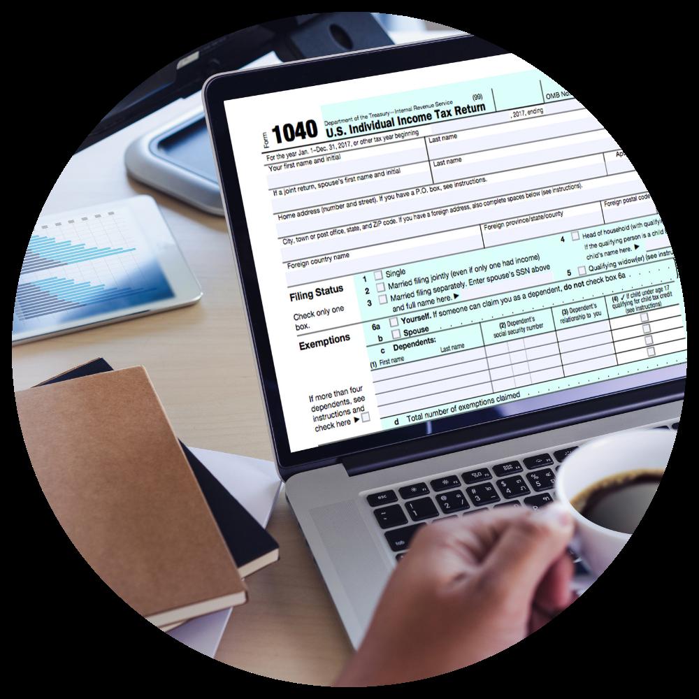 Tax Preparation Spinner