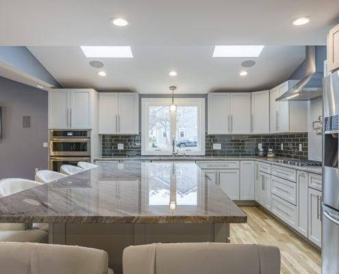 Custom Kitchen with Hardwood Floors and Granite Countertops
