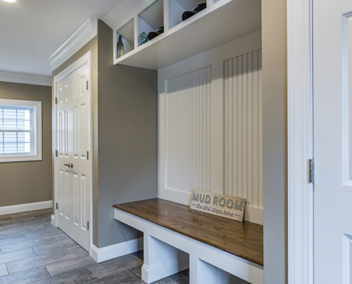 Custom Built Mudroom with Storage and Seating