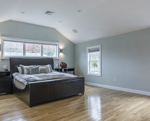 Master bedroom with traditional features