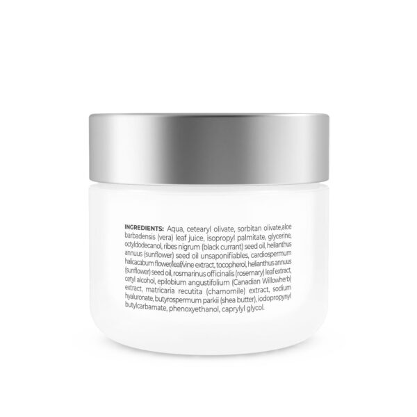 ingredients in our cream for sensitive skin and couperose hydrating moisturizer