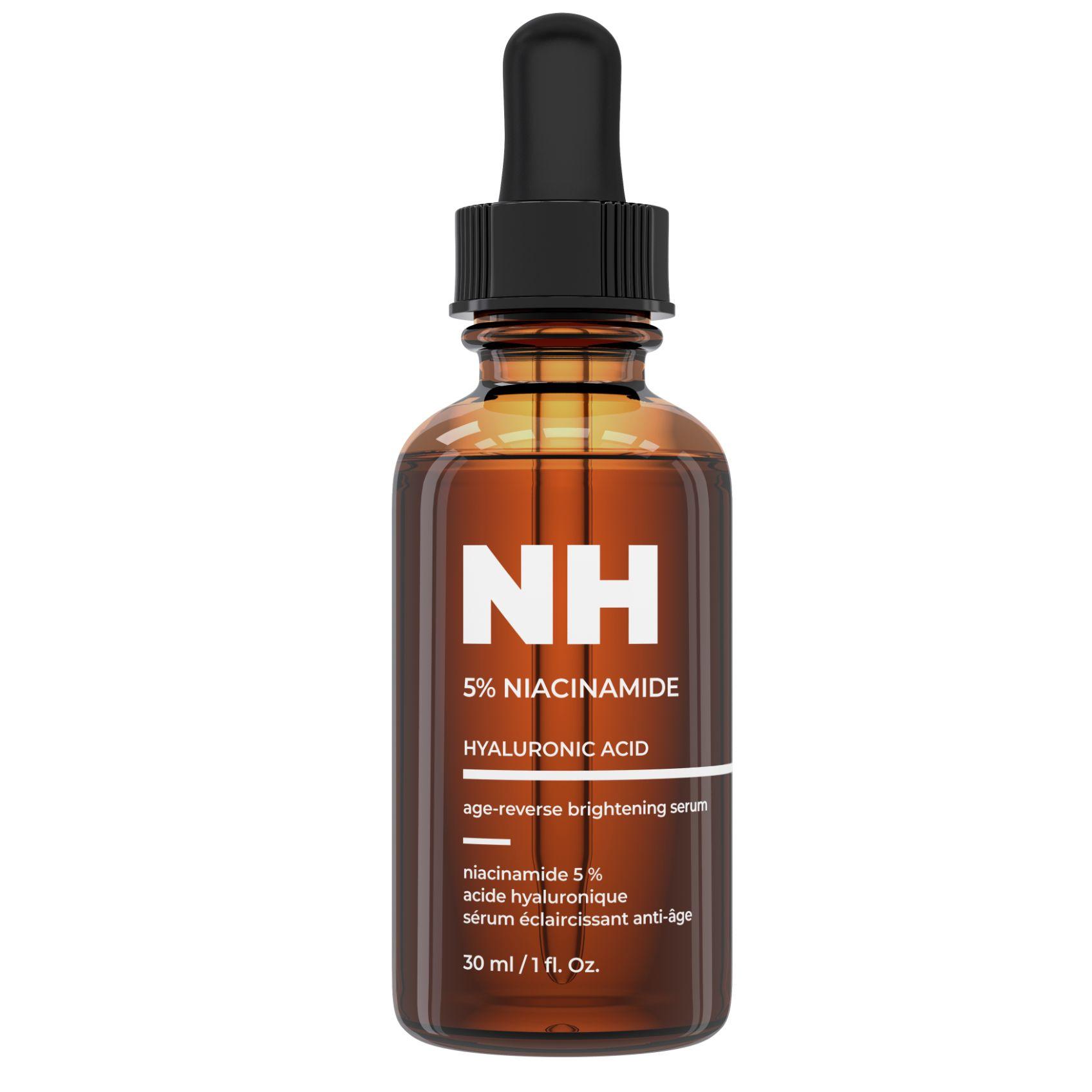 sérum de niacinamide pour éclaircir la peau, anti-âge et contrôle des rides