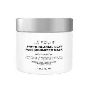 clay mask cream with coco charcoal to remove excess oil hydrate skin and reduce redness and irritation