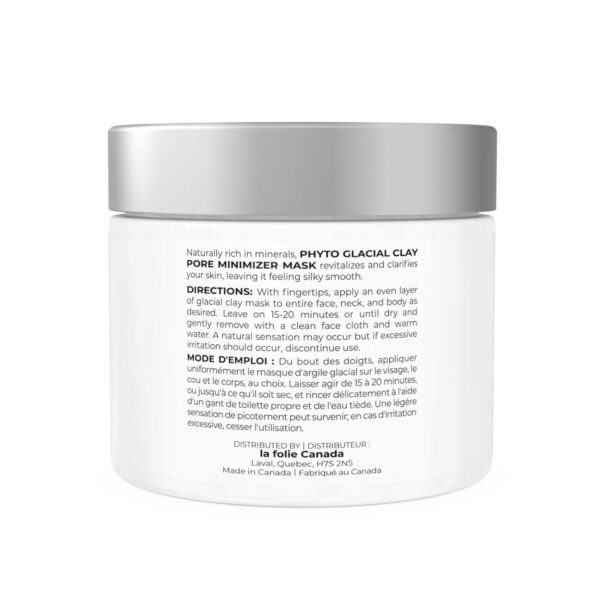 Phyto clay mask cream for skin rejuvenation and acne reduction