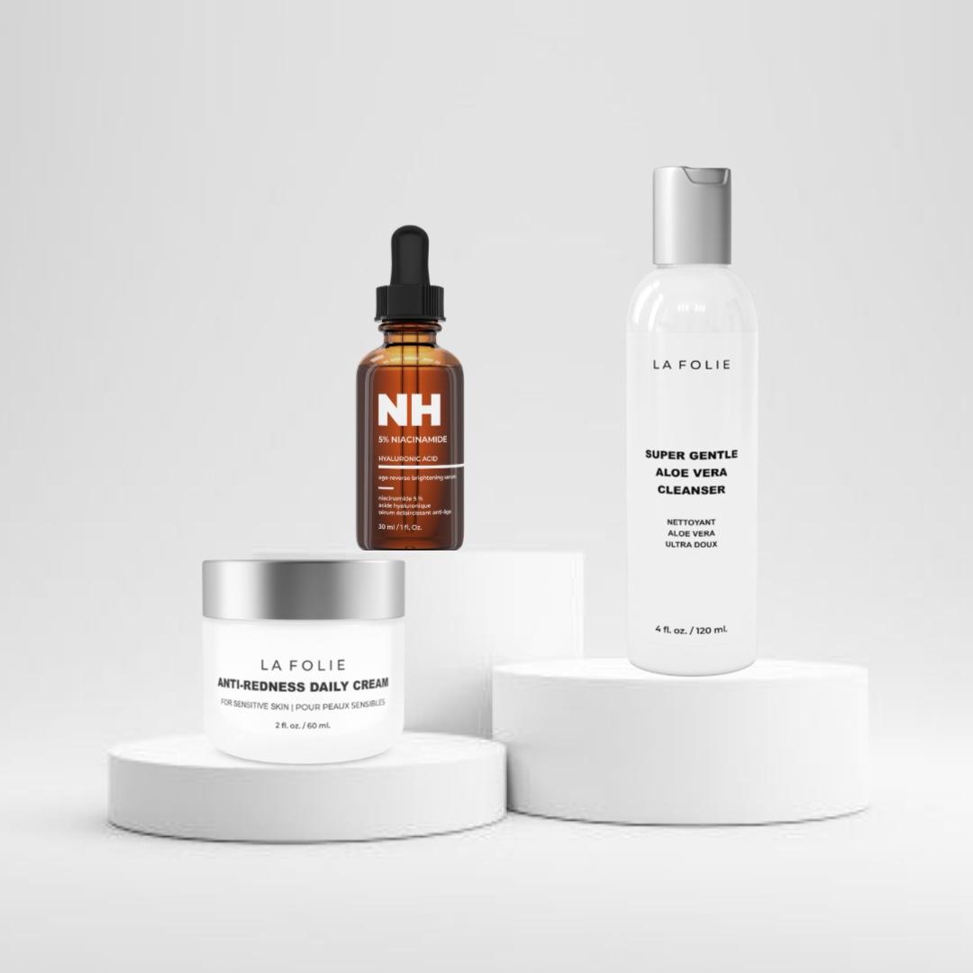 kit de nettoyage de la peau pour la routine de soins à domicile réduit les imperfections des pores et de l'acné