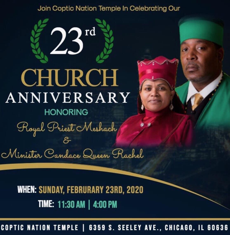 23rd Church Anniversary | February 23 @ 11:30a