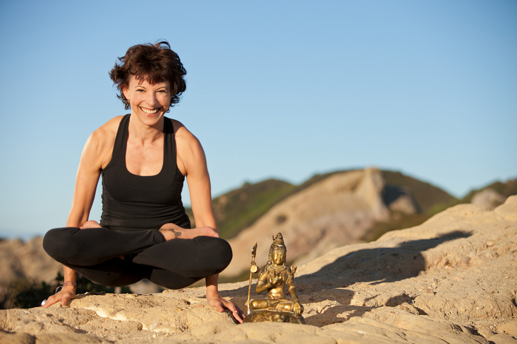 Jeanne Heileman LA Yoga teacher - Lotus Pose
