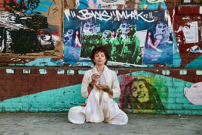 Jeanne in meditation