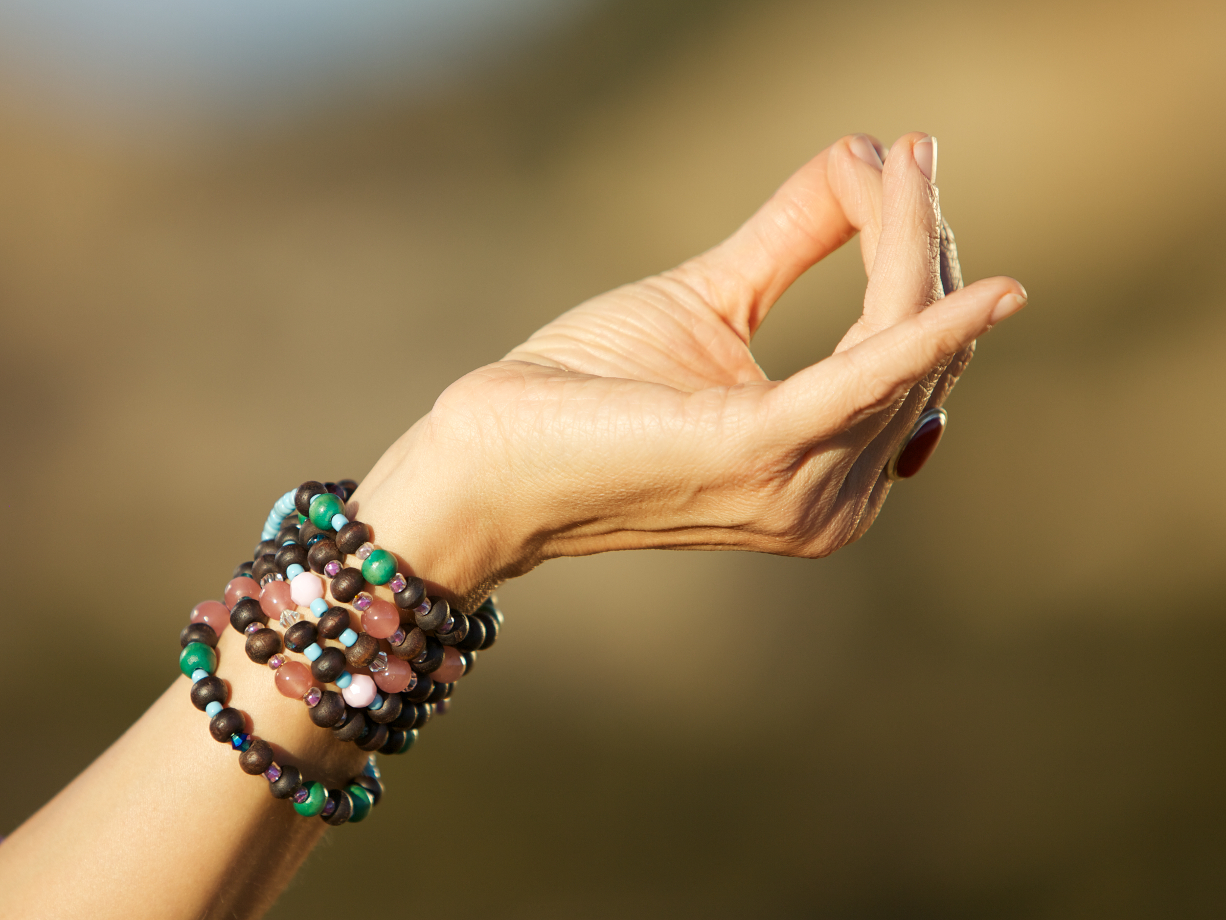 Jeanne Heileman chin mudra mala beads yoga meditation