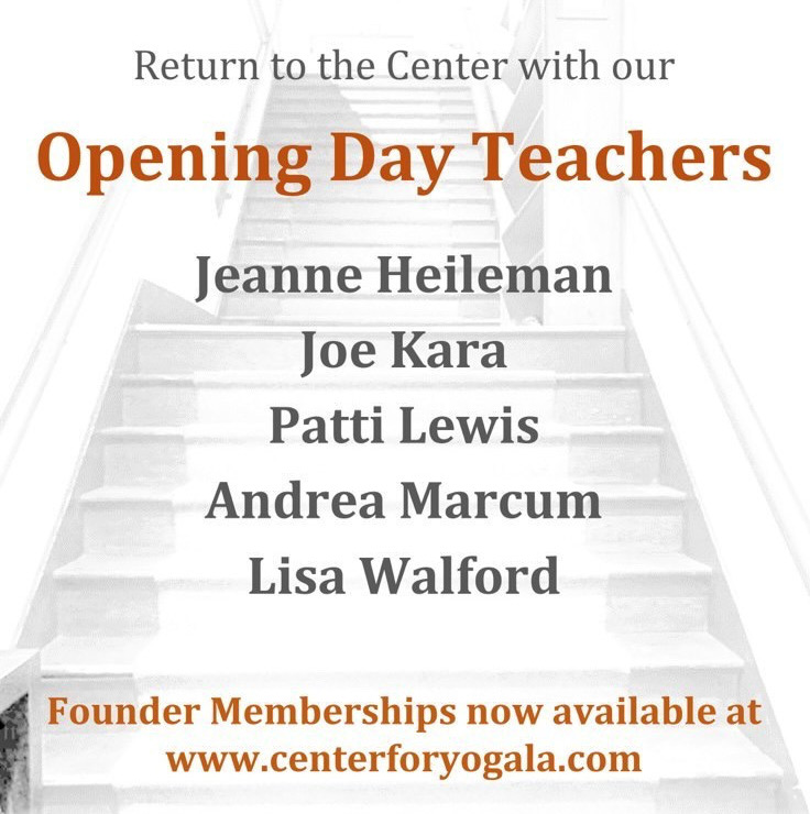 Jeanne Heileman teaches on opening day at Center for Yoga