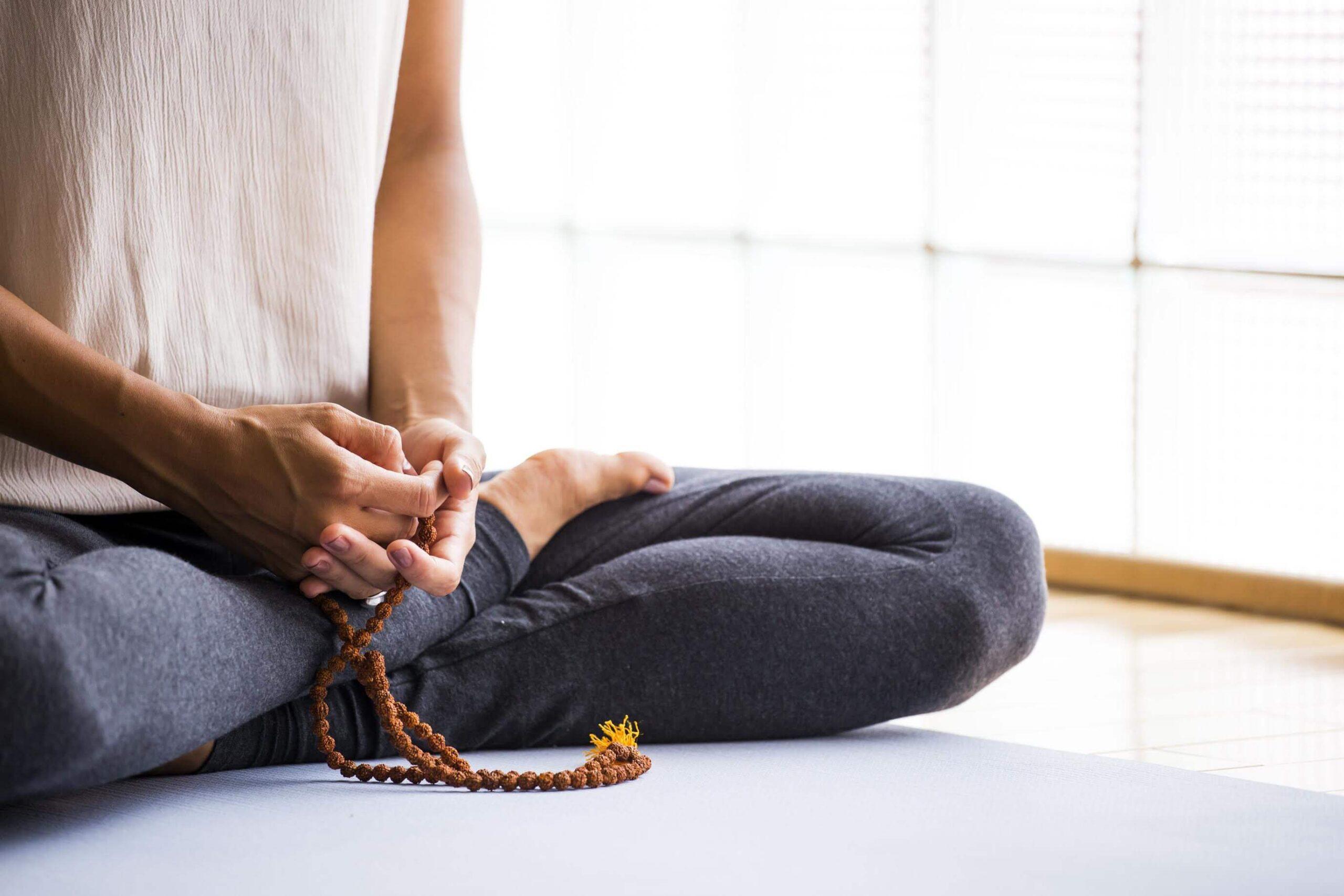 yogi sitting on mat