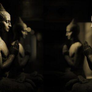 statue in meditation