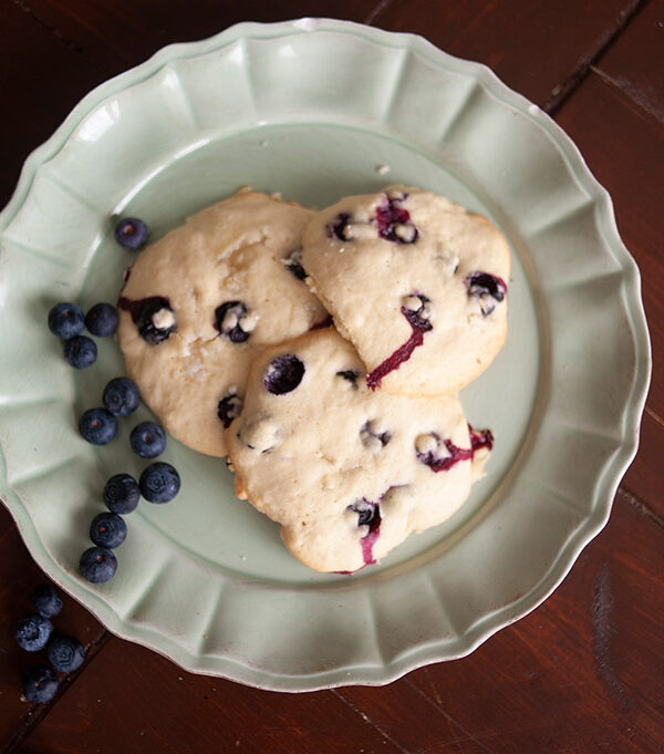 In the Kitchen: Blueberry Cream Cheese Cookies