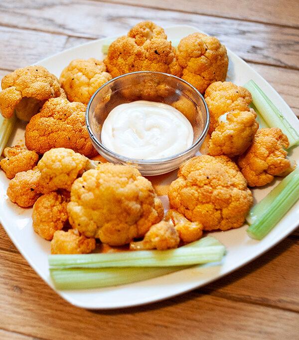 In the Kitchen: Buffalo Cauliflower Bites