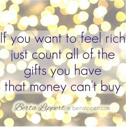 to feel rich