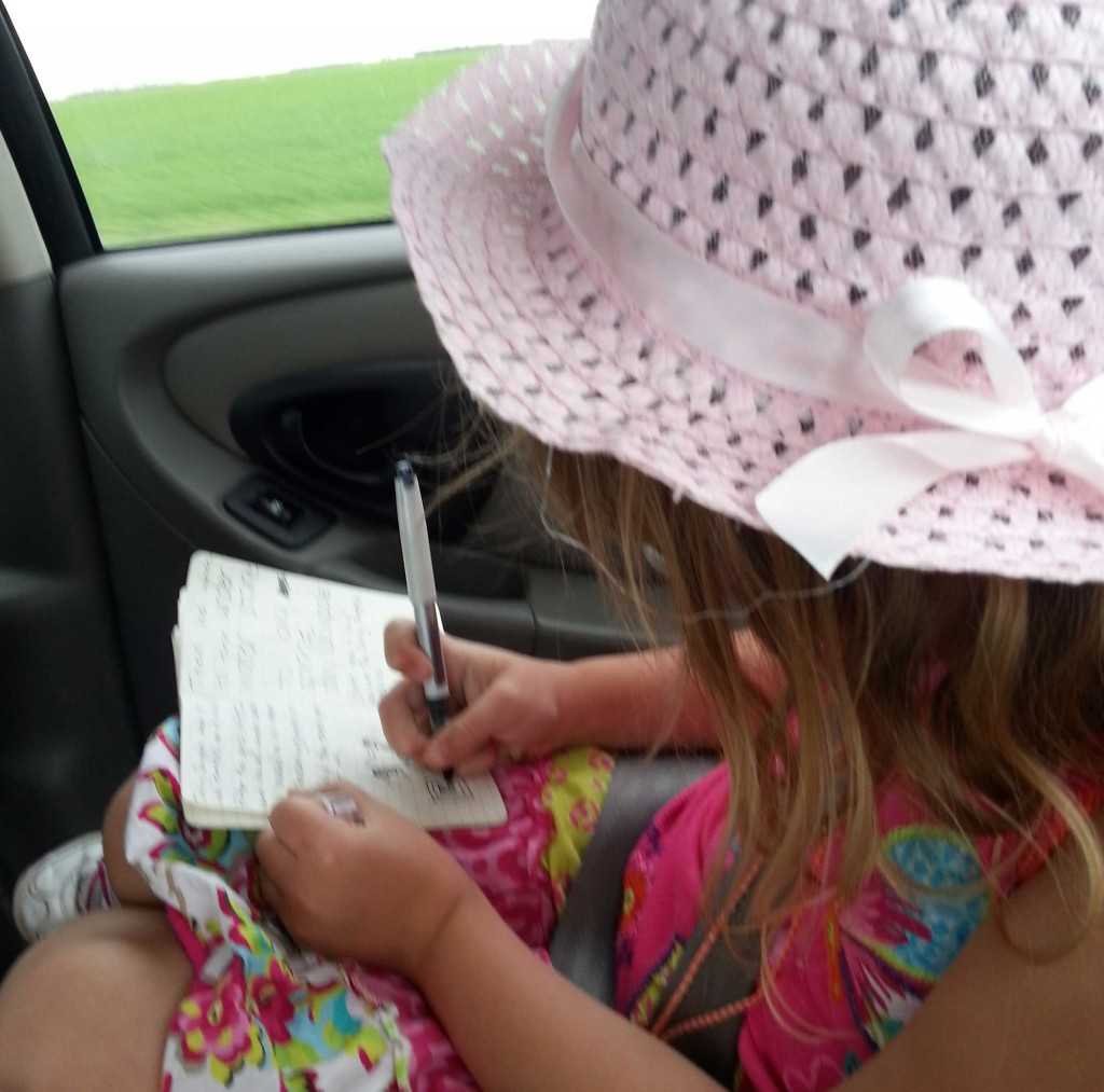 Little K writes a story about Turdy!