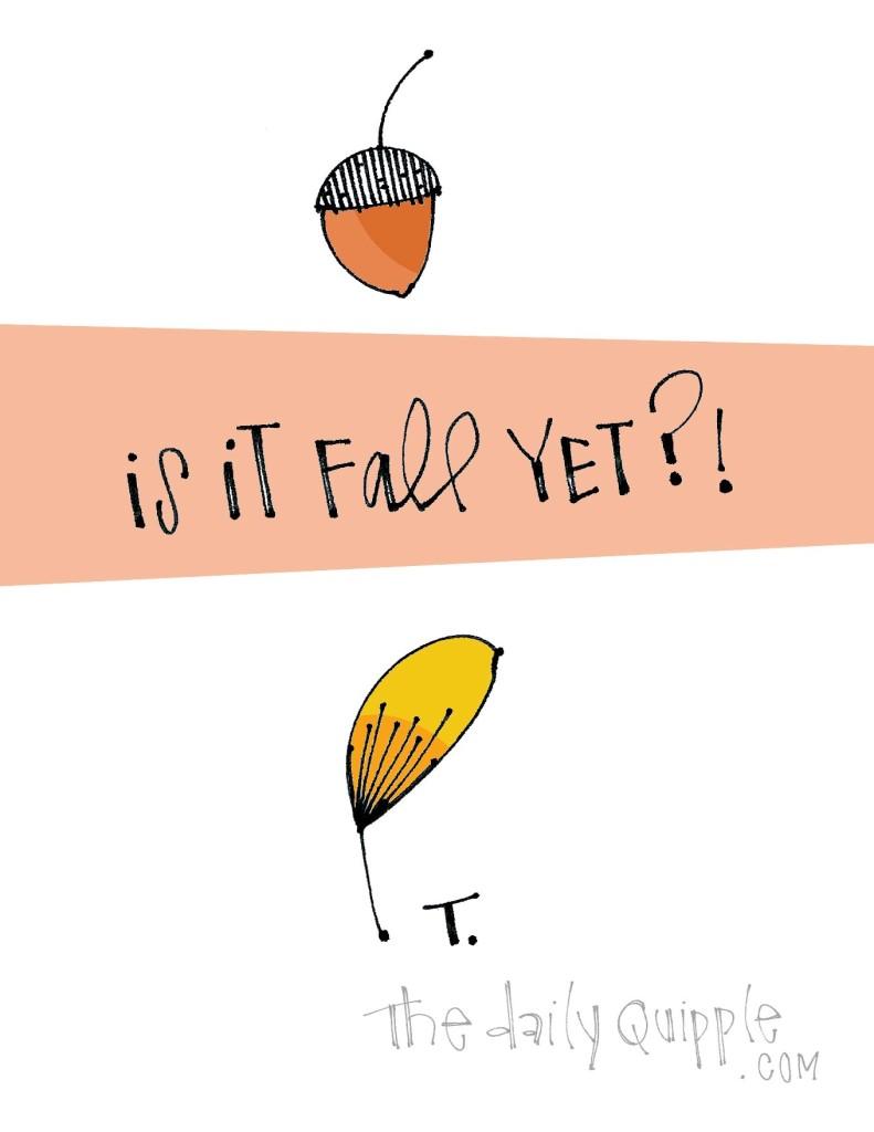 Is it fall yet?!