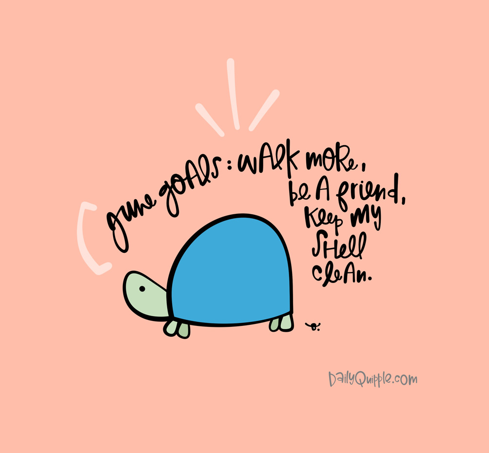 Turtle Goals for June | The Daily Quipple