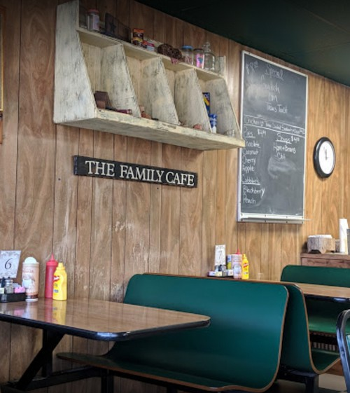 Family Cafe in LaCygne fails inspection; Fresh rodent droppings: five in the soda syrup cabinet and seven behind the mop sink by the wall (mixed with old droppings)