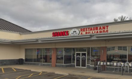Sharks Restaurant & Billiards in Shawnee fouls inspection; E&J brandy was being stored with visible winged insects floating inside, 13 violations