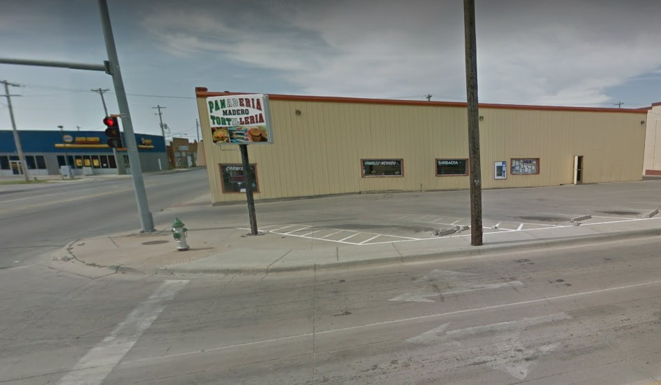 Tortilleria Panaderia Medero in Dodge City blunders inspection; Dried chilies were stored in a non-food grade black trash can on the west side of the kitchen