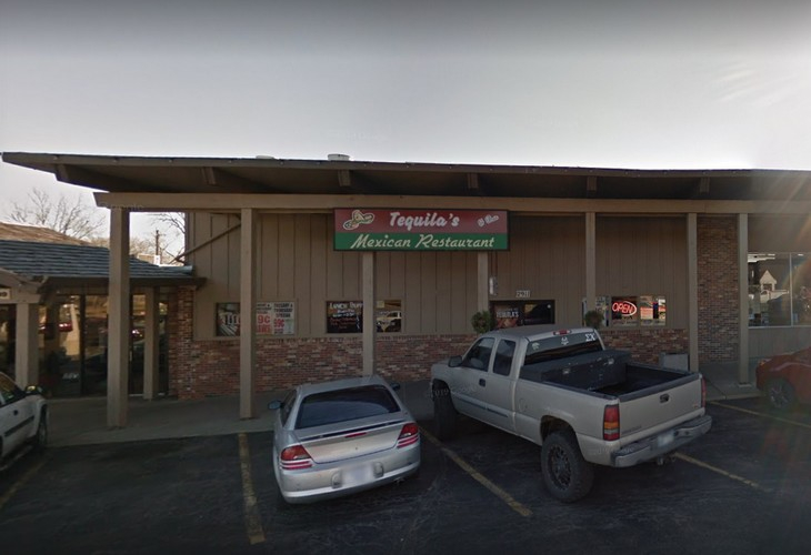 Tequilas Mexican Restaurant and Bar in Topeka fouls inspection; Employee handled soiled utensils, then without washing hands removed clean glasses dish machine rack