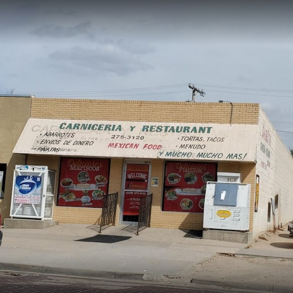 18 violations at Carniceria Garcia in Garden City; assorted chemicals over stored as clean pans, meat slicer in the meat room there has food debris on the blade and cutting board